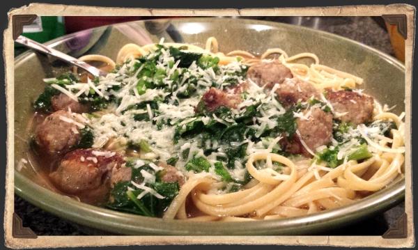 Linguini w Broccoli Rabe n Sausage
