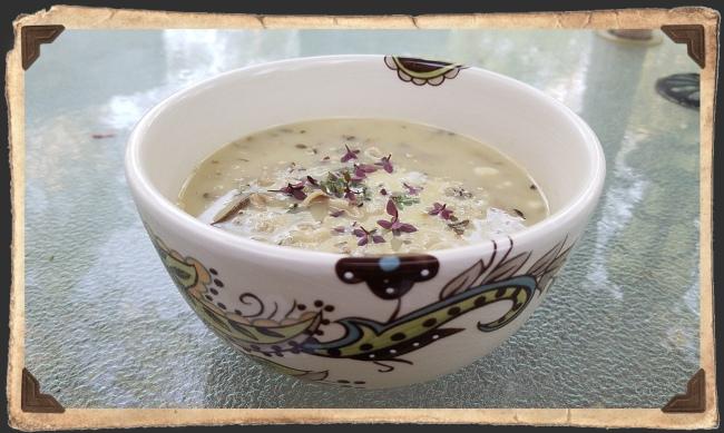 Spring Onion Mushroom Bisque